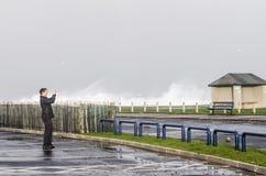 Het vangen van het onweer Stock Fotografie
