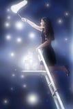 Het vangen van sterren Stock Afbeelding
