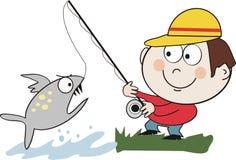 Het vangen van vissenbeeldverhaal Royalty-vrije Stock Foto's
