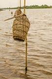 Het vangen van vissenhulpmiddelen Stock Foto