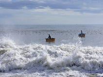 Het vangen van zeekreeft Royalty-vrije Stock Afbeeldingen