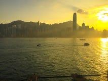 Het varen aan Hong Kong Island Royalty-vrije Stock Foto's
