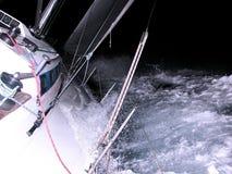 Het varen bij nacht Royalty-vrije Stock Afbeelding