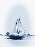 Het varen Bootverticaal Stock Afbeelding