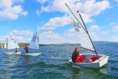 Het varen botenkadetten het rennen Stock Afbeelding