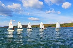 Het varen botenkadetten het rennen Royalty-vrije Stock Fotografie
