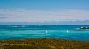 Het varen in de Bahamas Stock Foto's