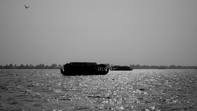 Het varen in de binnenwateren van Kerala Royalty-vrije Stock Foto's