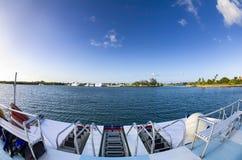 Het varen in de Caraïben Stock Foto