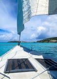 Het varen in de Caraïben Stock Afbeelding
