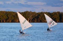Het varen in Gouden Kust Queensland Australië Stock Afbeeldingen