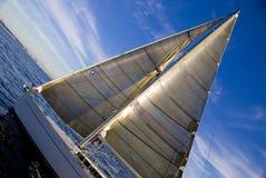 Het varen op Baai Elliott stock afbeeldingen