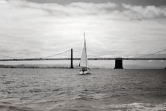 Het varen op de Baai van San Francisco Stock Afbeelding