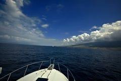 Het varen op de Stille Oceaan Stock Fotografie