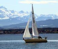 Het varen op het Meer van Konstanz royalty-vrije stock foto's