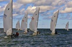Het varen op het open water Royalty-vrije Stock Fotografie