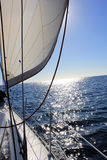 Het varen op het overzees Stock Afbeelding