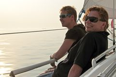 Het varen op IJsselmeer in Nederland Royalty-vrije Stock Fotografie