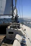 Het varen. Op zee royalty-vrije stock afbeelding