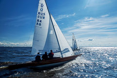 Het varen regatta in Rusland stock foto