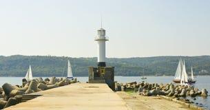 Het varen regatta, Varna Stock Foto's