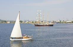 Het varen regatta, Varna Royalty-vrije Stock Foto