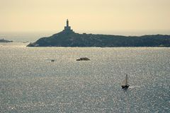 Het varen in Sardinige Stock Fotografie