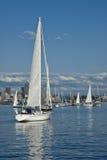 Het varen in Seattle stock afbeelding