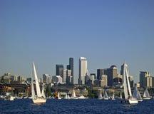 Het varen Seattle Stijl stock fotografie