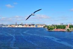 Het varen tot Stockholm royalty-vrije stock foto