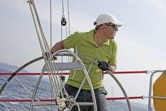 Het varen van de regatta actie royalty-vrije stock afbeelding