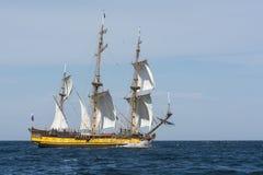 Het varen van fregatshtandart Royalty-vrije Stock Foto