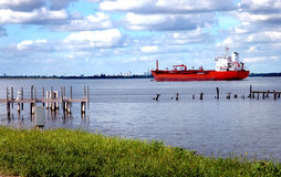Het varen van het schip Stock Foto's