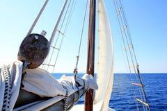 Het varen, zeil en linnen Stock Afbeelding