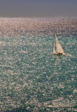 Het varen zonsondergang in Nice Royalty-vrije Stock Foto's