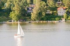 Het varen in Zweden Stock Afbeeldingen