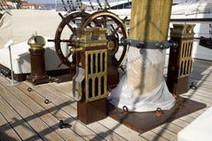 Het varende fregat trekt de riviermuseum aan van Fernando en Gloria Lisbon Portugal Tagus- Royalty-vrije Stock Foto