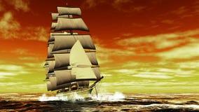 Het varende schip Royalty-vrije Stock Afbeeldingen