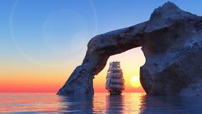 Het varende schip Royalty-vrije Stock Afbeelding