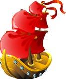 Het varende schip van het beeldverhaal royalty-vrije illustratie