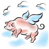 Het varken kan vliegen Stock Fotografie
