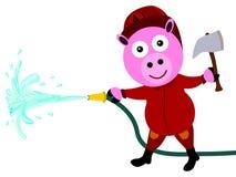 Het varken van de brandvechter Stock Afbeeldingen