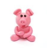 Het varken van de plasticine stock foto