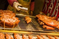 Het varkensbarbecue van China stock afbeelding