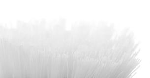 Het varkenshaar van de tandenborstelclose-up op witte fone wordt geïsoleerd die stock afbeelding