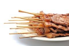 Het Varkensvlees van het braadstuk in een Stok Royalty-vrije Stock Afbeelding