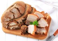 Het varkensvleesbuik van het braadstuk Stock Afbeelding
