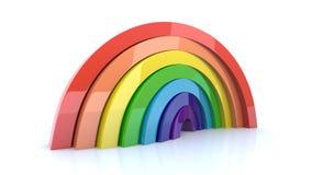Het Vaste lichaam van de regenboog vector illustratie