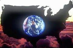 Het vasteland van Verenigde Staten Stock Afbeeldingen
