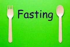 Het vasten eet Concept stock afbeelding